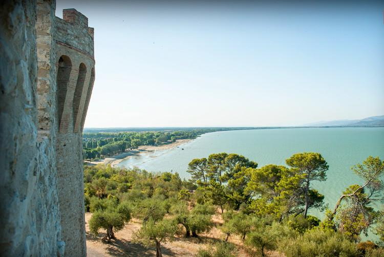 Castiglion del Lago, panorama dalle mura