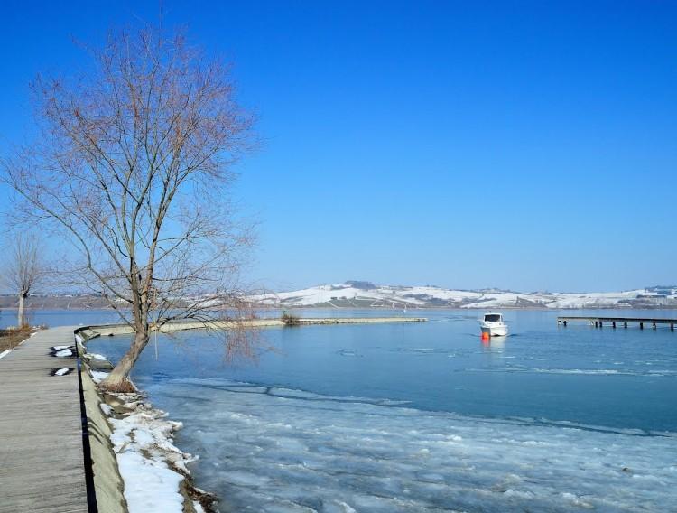 Lago di Chiusi, inverno
