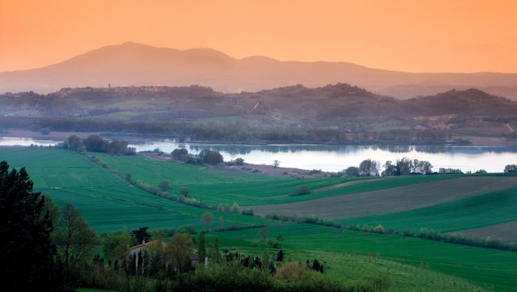 Lago di Montepulciano, panorama