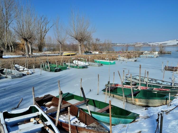 Lago di chiusi, ghiaccio