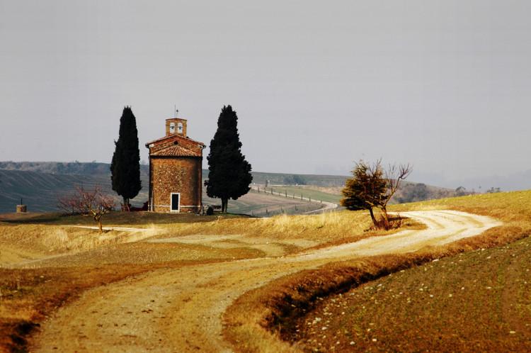 Pienza, Cappella di Vitaleta, retro