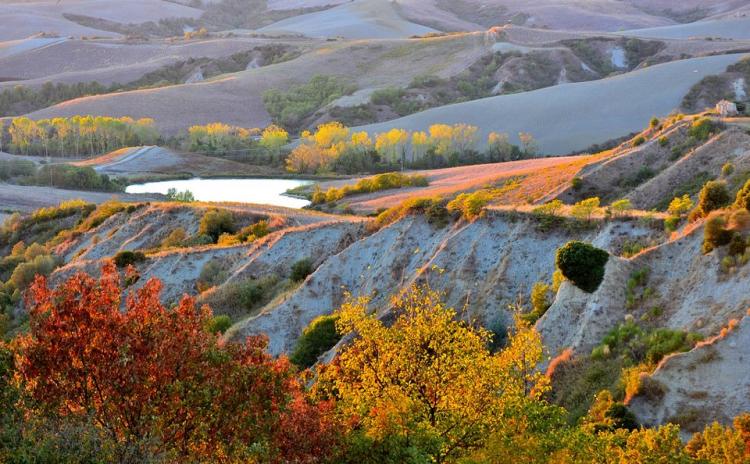 Val d'Orcia, colori