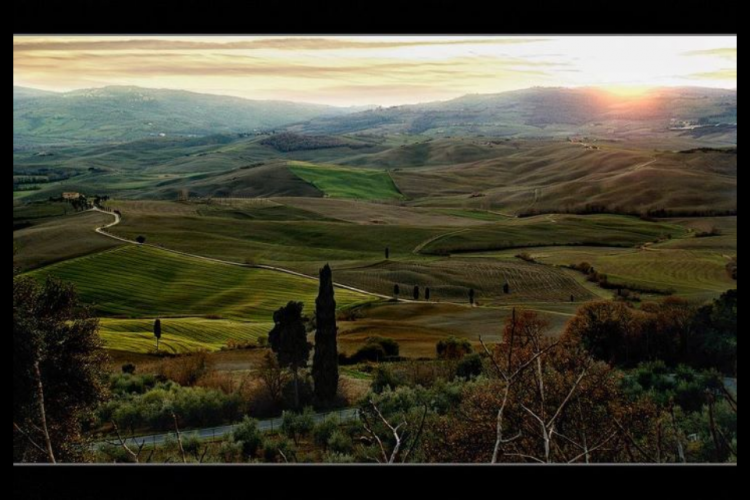 Val d'Orcia, panorama