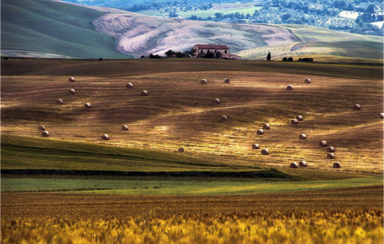 Val d'Orcia, rotoballe