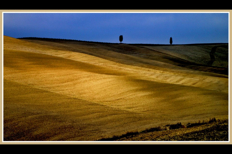 Val d'Orcia, tramonto